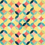 Retro bezszwowy geometryczny wzór Obraz Royalty Free