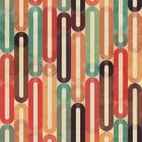 Retro bezszwowy wzór z grunge skutkiem Obraz Stock