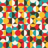 Retro bezszwowy wzór z okręgami. Obraz Stock
