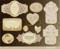 Retro białego złota etykietka Obrazy Stock
