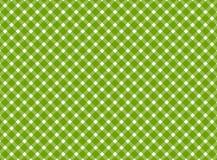 Retro bianco di verde della tovaglia Immagine Stock