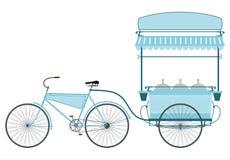 La bici del gelato. illustrazione vettoriale