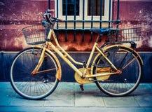 Retro bici Grungy Fotografia Stock Libera da Diritti