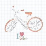 Retro bicicletta. illustrazione di stock