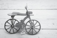 Retro bicicletta di legno Immagine Stock