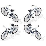 Retro bicicletta isometrica Fotografia Stock
