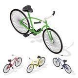 Retro bicicletta isometrica Fotografia Stock Libera da Diritti