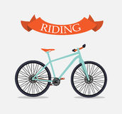 Retro Bicycle Background Royalty Free Stock Photography
