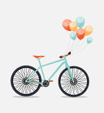 Retro Bicycle Background Vector Illustrator Stock Images