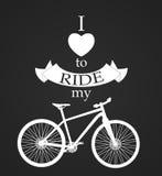 Retro Bicycle Background Royalty Free Stock Image
