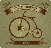 Retro bicycle Royalty Free Stock Photos