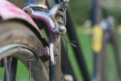 Retro bicycle breaks. Single pivot side-pull caliper brake stock photography