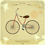 Retro bicycle card Royalty Free Stock Image