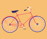 Retro bicycle flat design. Bike icon. Vector illustration. Royalty Free Stock Photography