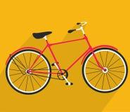 Retro bicycle flat design. Bike symbol. Vector illustration Stock Image