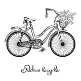 Retro Bicycle With Flowers Royalty Free Stock Images