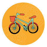 Retro bicycle Stock Photography
