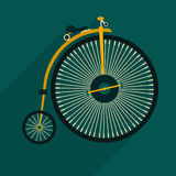 Retro bicycle icon Stock Images