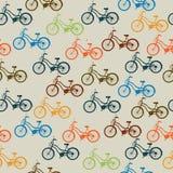 Retro bicycle pattern Stock Photos