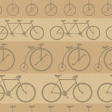 Retro bicycle pattern, hipster background Royalty Free Stock Photo