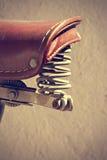 Retro bicycle saddle detail. Vintage style. Royalty Free Stock Photo