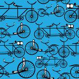 Retro bicycle seamless pattern Stock Photography