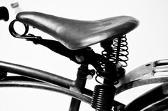 Retro bicycle seat stock photography