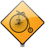 Retro Bicycle Sign. Concept Stock Photography