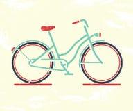 Retro bicycle. Vector illustration Royalty Free Stock Photos