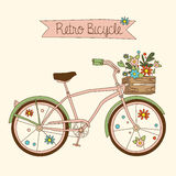 Retro bicycle. Vector illustration Royalty Free Stock Images