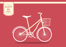 Retro Bicycle,Vector illustrations Stock Image