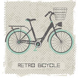 Retro bicycle. On vintage Background Stock Images