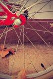 Retro bicycle wheel detail. Vintage style. Royalty Free Stock Photo