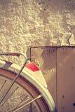 Retro bicycle wheel detail. Vintage style. Royalty Free Stock Image