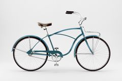 Retro bicycle on a white background. Royalty Free Stock Images