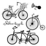 Retro Bicycles Set Royalty Free Stock Photos
