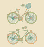 Retro Bicycles Stock Photo