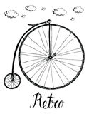 Retro bicykl royalty ilustracja