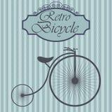 Retro bicykl na modnisia tle Rocznika znaka projekt Stara moda tematu etykietka ilustracja wektor