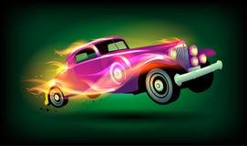 Retro bieżnego samochodu projekt Obrazy Royalty Free