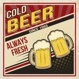 Retro bier vectoraffiche Stock Foto