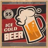 Retro bieraffiche Stock Afbeelding