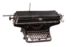 Retro big format typewriter isolated on white background Royalty Free Stock Photography