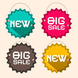 Retro Big Sale and New Title royalty free illustration