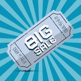 Retro Big Sale Paper Ticket Royalty Free Stock Image