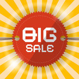 Retro Big Sale Template Royalty Free Stock Photography