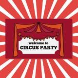Retro biglietti del partito del circo Immagine Stock