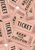 Retro biglietti e buoni d'annata Fotografia Stock