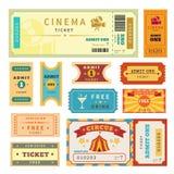 Retro biglietti messi Fotografie Stock