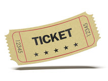 Retro biglietto del cinema Fotografia Stock